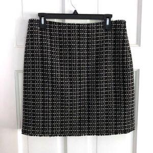 Ann Taylor Wool Blend Pencil Skirt